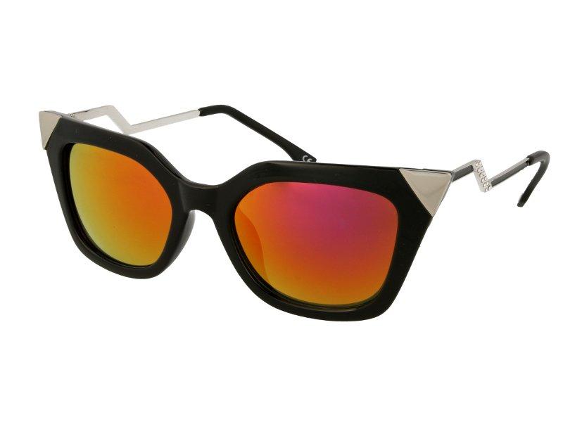 Sunglasses Alensa Cat Eye Shiny Black Mirror