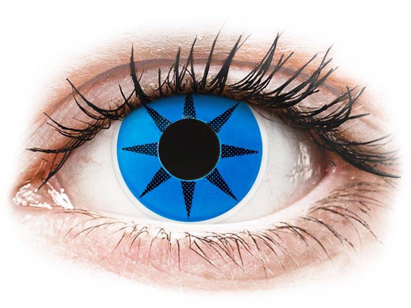 ColourVUE Crazy Lens - Blue Star - nedioptrijske (2 kom leća)