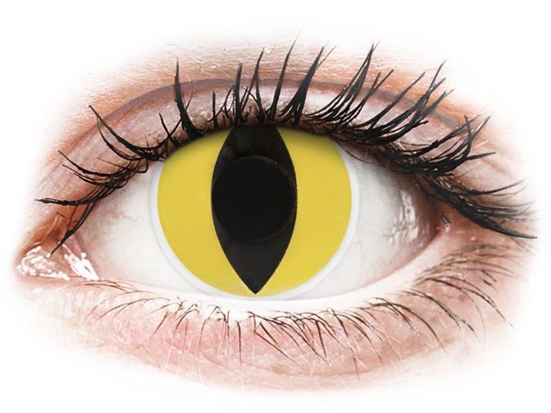 ColourVUE Crazy Lens - Cat Eye - nedioptrijske (2 kom leća)