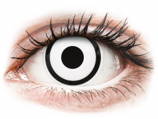 ColourVUE Crazy Lens - White Zombie - nedioptrijske (2 kom leća)