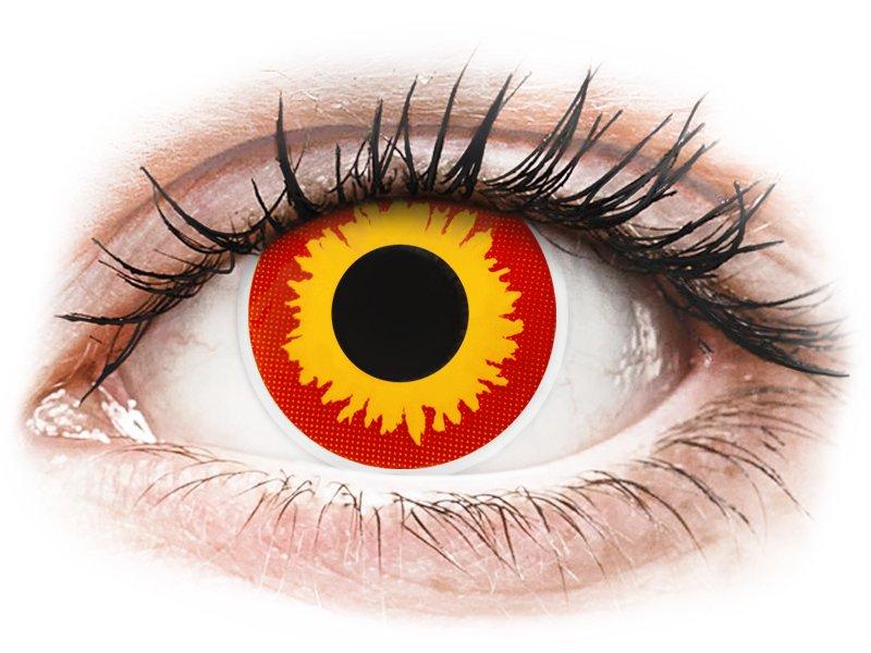 ColourVUE Crazy Lens - Wildfire - nedioptrijske (2 kom leća)