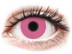 ColourVUE Crazy Glow Pink - nedioptrijske (2kom leća)