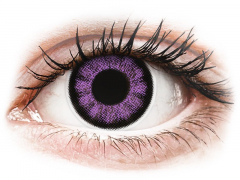 ColourVUE BigEyes Ultra Violet - nedioptrijske (2kom leća)
