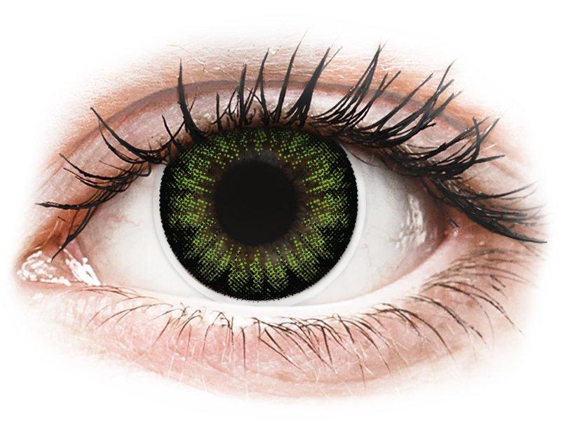 ColourVUE BigEyes Party Green - nedioptrijske (2kom leća)