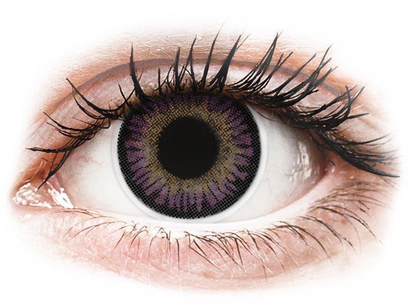 ColourVUE 3 Tones Violet - nedioptrijske (2kom leća)
