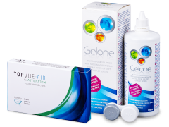 TopVue Air for Astigmatism (3 kom leća) + otopina Gelone 360 ml
