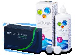TopVue Premium for Astigmatism (6 kom leća) + otopina Gelone 360 ml