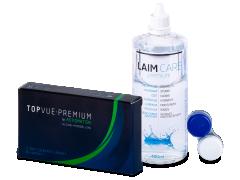 TopVue Premium for Astigmatism (3 kom leća) + otopina Laim-Care 400 ml