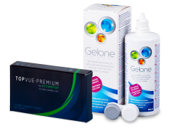 TopVue Premium for Astigmatism (3 kom leća) + otopina Gelone 360 ml
